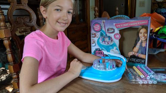 Eva and the KumiKreator Cool Maker Friendship Bracelet Maker
