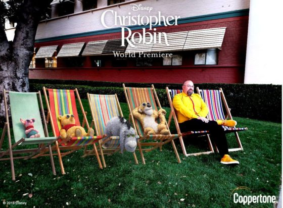 Lounging with the cast of Christopher Robin