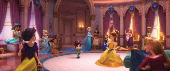 Vanellope with the Princesses