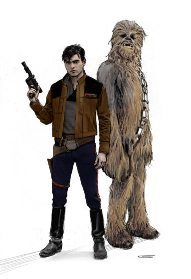 Solo Concept Art - Han and Chewie - Characters