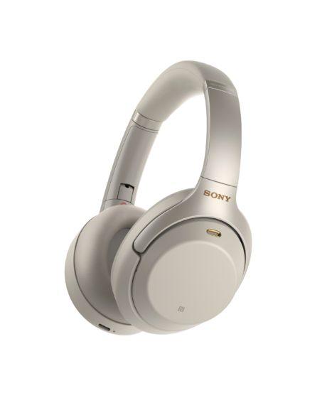 White Sony Noise Canceling Headphones