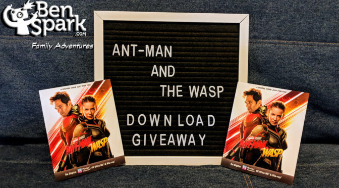 I'm hosting a Giveaway for 2 Digital Copies of Marvel Studios' Ant-Man and The Wasp