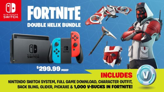 Nintendo Switch Fortnite Bundle With 45 In Unique Goodies