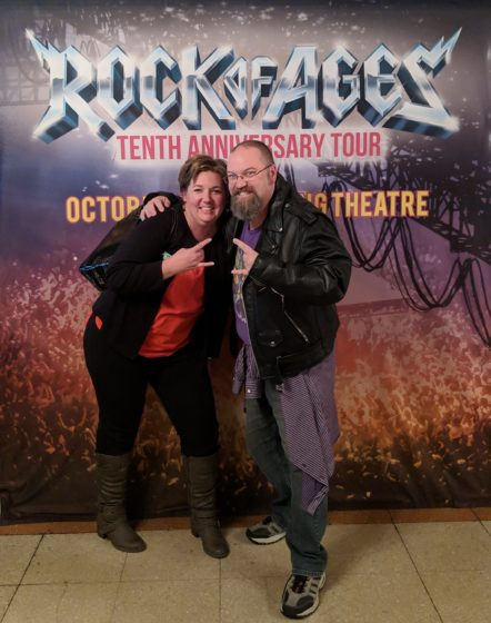 At Rock of Ages with Allison