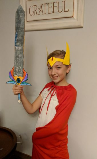 Eva and the finished She-Ra sword