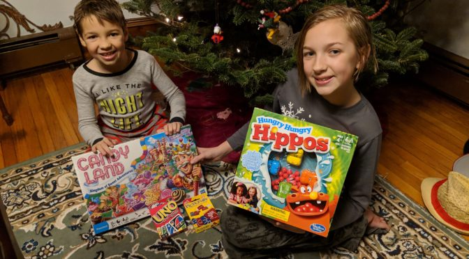 Playing Classic Games and Talking Christmas Traditions