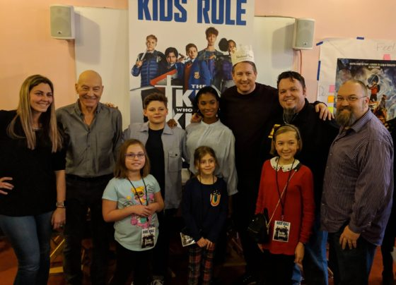 With the Cast of The Kid Who Would Be King