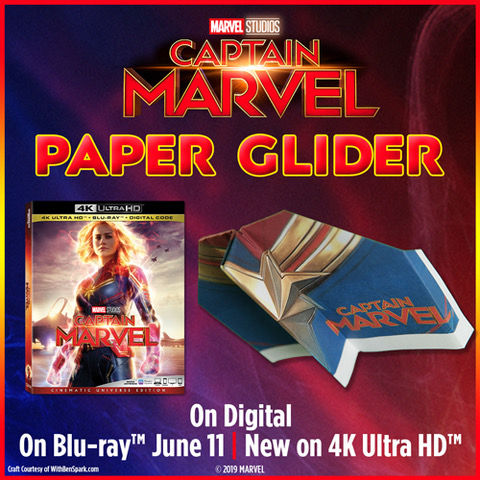 Captain Marvel Glider Instructions