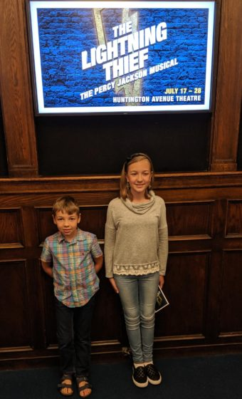 Eva and Andrew at The Lightning Thief