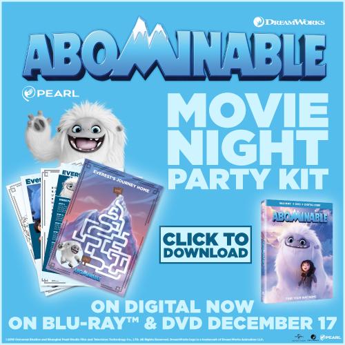 Abominable Movie Night Activities