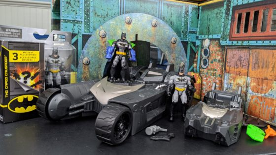 Batman and Batmobile toys